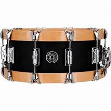 wood hoop snare taye drums specialty aluminum snare with wood hoops music123