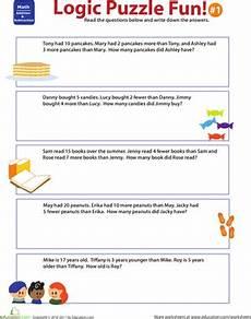 logic puzzle worksheets 5th grade 10845 logic puzzle 1 worksheet education