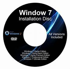 windows 7 32 64 bit reinstall with driver disk all