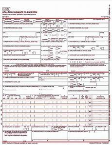 cms 1500 form exle cms 1500 claim form versions and tips