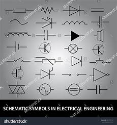schematic symbols in electrical engineering icon eps10 stock vector illustration 161673113