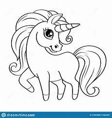 unicorn vector black and white illustration