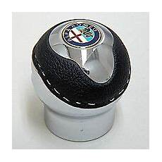 pomello alfa 147 alfa romeo leather gear black shift giulietta mito
