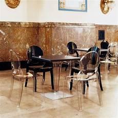 table et chaise transparente chaise de style en polycarbonate transparent elizabeth