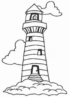 Kostenlose Malvorlagen Leuchtturm Leuchtturm Auf Einem Felsen Ausmalbild Malvorlage Gemischt