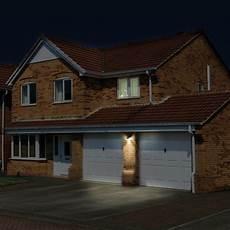luceco solar guardian 3 2w pir wall light ip44 black 400lm