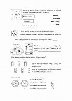 probability worksheets and solutions 5698 probability word problems teaching resources