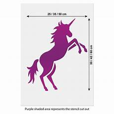 any color large unicorn wall prancing unicorn stencil large unicorn wall stencil