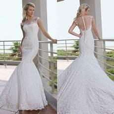 cap sleeves appliqued tulle neckline elegant chapel train lace mermaid 2013 new model wedding