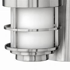 hinkley saturn stainless steel one light large outdoor wall light 1905ss bellacor