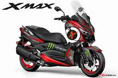 Modifikasi Yamaha Xmax by Modifikasi Striping Yamaha Xmax 250 Jorge Lorenzo 99