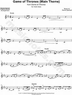 davis quot game of thrones main theme quot sheet music