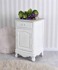Table De Chevet Shabby Chic Placard Blanc Commode Bois
