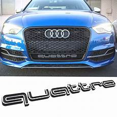 quattro grill badge audi latest 2017 a1 a3 a4 a5 s3 s4 rs rs4 rs5 rs6 sline q3 b ebay