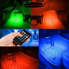 glowing interior 7 color rgb led neon light remote for