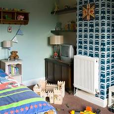 Wallpaper Boy Bedroom Ideas Pictures by Boys Bedroom With Feature Wallpaper Boys Bedroom Ideas
