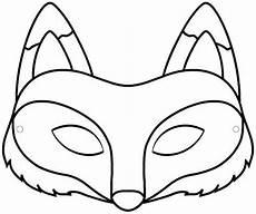 pdf masque renard a colorier dessin animaux enfants masque renard masque animaux et masque loup
