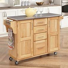 Kitchen Island Cart With Cabinets by Shop Home Styles 52 5 In L X 18 In W X 36 In H