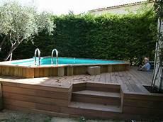 Construire Plage Piscine Hors Sol Jardin Piscine Et Cabane