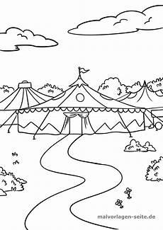 Ausmalbilder Zirkus Kostenlos Malvorlage Zirkus Zirkuszelt Kostenlose Ausmalbilder