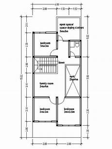 small double storey house plans small two story house plans 6mx15m house affair