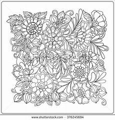 decorative vintage flowers pattern good coloring stock vector 376245694 shutterstock