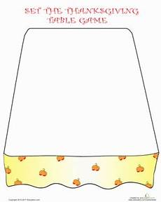 the table play the thanksgiving dinner game worksheet education com