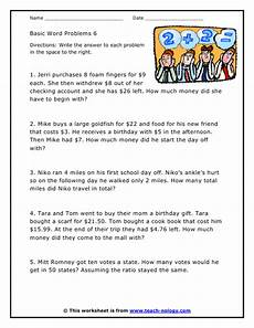 money math worksheets word problems 2388 money based word problem worksheet version 6