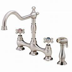 danze kitchen faucet danze opulence 2 handle standard kitchen faucet with veggie spray in stainless steel d404557ss