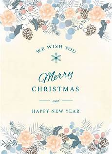 merry christmas greeting card template premium vector