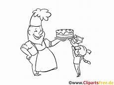 Malvorlagen Kinder Torte Konditor Mit Torte Malvorlage Zum Drucken Und Ausmalen