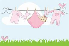 Baby Clothesline Clipart