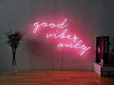new good vibes only neon sign for bedroom wall home decor