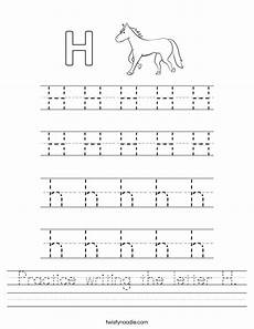 letter h handwriting worksheets 24478 practice writing the letter h worksheet twisty noodle