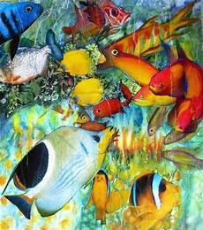 malvorlagen unterwasser tiere um unterwasserwelt fische tiere collage aquarellmalerei