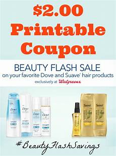 2 00 printable coupon for dove and suave 174 hair products at walgreens