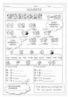 english worksheets numbers 1 20