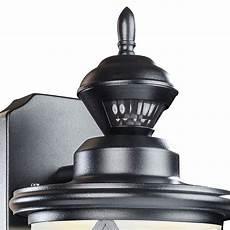 13 quot high black led motion sensor outdoor wall light 35p24 ls plus