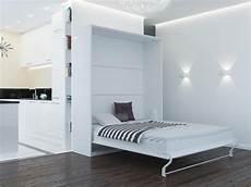 folding wall bed 160cm vertical white comfort slattes