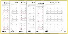 fraction worksheets year 5 equivalent 4175 year 5 ordering fractions worksheet made