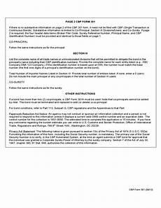 cbp form 301 customs bond free download