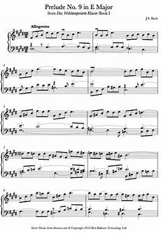 bach prelude no 9 in e major book1 from well tempered