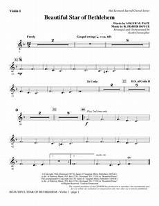 download beautiful star of bethlehem violin 1 sheet music by r risher boyce sheet music plus