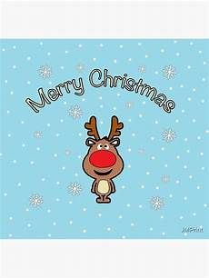 quot rudolph the nosed reindeer merry christmas santa claus quot poster by jmprint redbubble