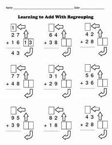 addition worksheets for grade 1 with regrouping 8863 addition with regrouping made easy 8 math worksheets set 1 recycling projects