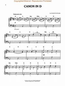 partitions johann pachelbel canon in d easy piano