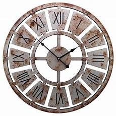 23 Quot Gallery Large Wall Clocks With Rustic Vintage Rusted
