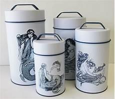 mermaid cylinder tins food safe set of 4 my wish list nautical kitchen beach theme