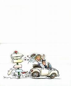Originelle Comic Hochzeitskarte Mit Freudestrahlendem