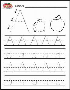 printable letter a tracing worksheets for preschool 24673 not only letter tracing this site has lists of all sorts for each letter alphabet